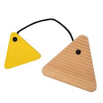 wasbord junior 8,9 x 9 cm hout blank/geel
