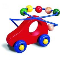 kralenframe auto 16 cm multicolor