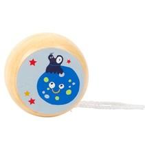 houten jojo Space Yo-Yos maan 6 cm blauw