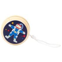 houten jojo Space Yo-Yos astronaut 6 cm blauw