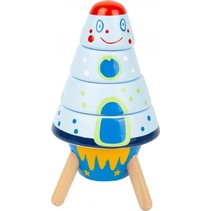 stapelraket Space hout junior 15 cm 5-delig