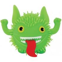 fluffy monster 11 cm groen