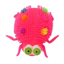 fluffy insect 12 cm roze