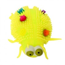 fluffy insect 12 cm geel