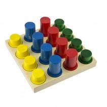 broodbord 14 cm multicolor 9-delig