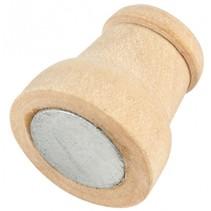 houten magneet 13 x 12 mm blank 20 stuks