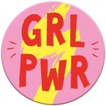 magneet Girl Power 5,5 cm rond