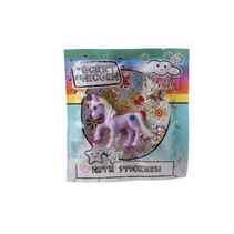 eenhoorn Pocket Unicorn meisjes 12 cm paars/wolkje