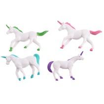 speelfiguur unicorn 4 x 7 cm 8 stuks
