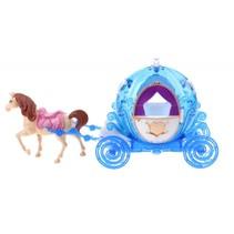 paard met koets 2-delig donkerblauw