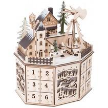 houten kerstkalender 25 cm