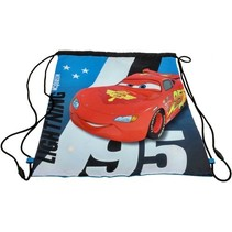 Cars gymtas blauw/rood 37 x 43 cm