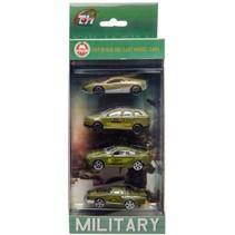 legervoertuigen 4 stuks o.a. politieauto