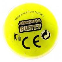 jumping putty met oogjes geel 4.5 cm