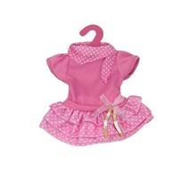 babypoppenjurk drielaags 46 cm roze