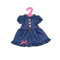 babypoppenjurk denim 46 cm donkerblauw
