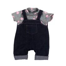 kledingset 46 cm donkerblauw/grijs