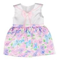 babypoppenjurk 46 cm roze/wit