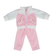 babypoppenkleding 43 cm roze/wit