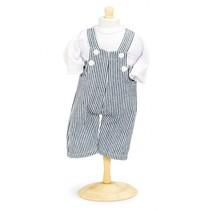 Overall met shirt poppen 42-46 cm