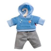 poppenkleding joggingpak blauw 28-33 cm