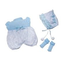 kledingset babypop 30 cm blauw