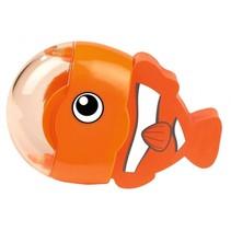 gum en puntenslijper vis oranje 6 cm