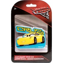 Disney Cars 3 reuze gum Cruz 10 x 6 cm geel