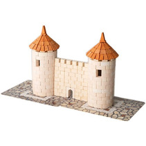 bouwpakket Two Towers junior 18 cm gips wit 471-delig