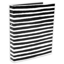 ringband Zepp strepen jongens 2-rings A4 karton zwart/wit