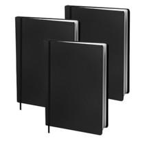 boekenkaft elastisch A4 textiel/elastaan zwart 3 stuks