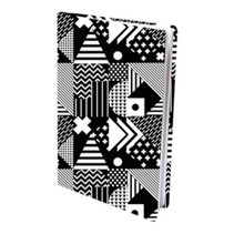 boekenkaft Memphis A4 textiel/elastaan zwart/wit