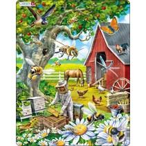 legpuzzel Maxi de imker bij de bijen 53 stukjes