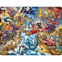 legpuzzel Maxi piratengevechten 39 stukjes