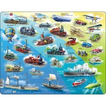 legpuzzel Maxi Historie Voertuigen 54 stukjes