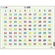 legpuzzel Maxi Leren tellen 100 stukjes