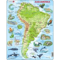 legpuzzel Maxi Zuid-Amerika geografie en dieren 65 stukjes