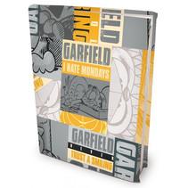 rekbare boekenkaft Garfield A4 textiel/elastaan geel/grijs