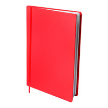 rekbare boekenkaft A4 textiel/elastaan rood