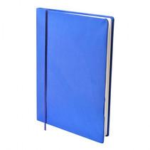 rekbare boekenkaft A4 textiel/elastaan blauw