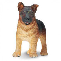 boerderijdier Duitse herder pup 2,5 cm junior zwart/bruin