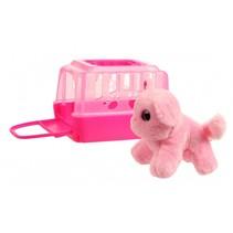 hond in bench roze 11 cm