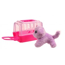 hond in bench paars 11 cm