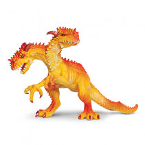 speelfiguur tweekoppige draak junior 11,5 x 12 cm oranje