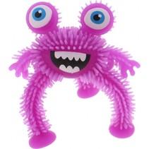 driepotig monster 10 cm paars