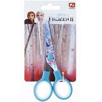 schaar Frozen II meisjes 12 x 6 cm staal blauw