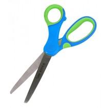 knutselschaar 15 cm blauw/groen