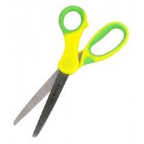 knutselschaar met ronde punt 15 cm geel/groen