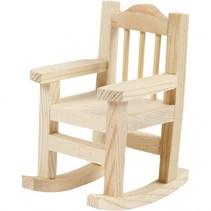 schommelstoel hout 8,8 x 5,5 cm blank per stuk