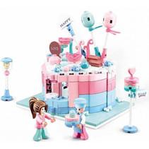 snoepwinkel junior 19,7 cm roze/blauw 423-delig